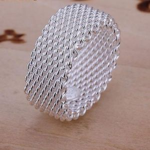 💝Jewelry Sale💝 Sterling Silver Mesh Ring